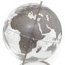 Desk Globes Justglobes Crystal Marquise Silver Contemporary Globe Desk