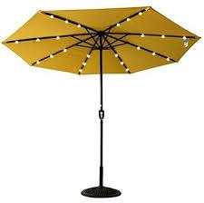 rectangular solar powered 22 led lighted outdoor patio umbrella
