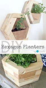build your own amazing diy hexagon planters out of your own scrap