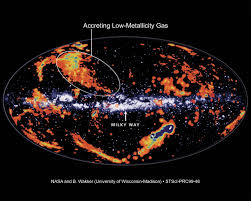 Milky Way Galaxy Map Apod December 14 1999 High Velocity Clouds And The Milky Way