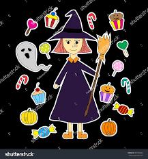 hand drawn halloween doodles cartoons colorful stock vector