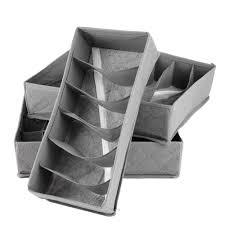 home storage supply foldable bamboo drawer underwear bra socks