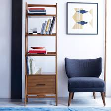 Bookcase Narrow Mid Century Bookshelf Narrow Tower West Elm