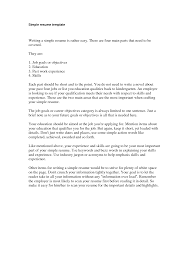 basic resume cover letter examples awesome 10 simple resume examples tutorial free examples of a simple sample resume resume cv cover letter example of simple resume format