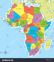 Blank African Map by 100 Africa Maps Countries West Region Of Africa Vector