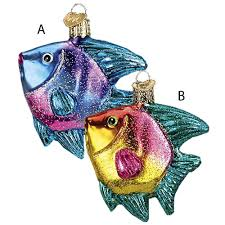 tropical angel fish christmas ornament perfect for a tropical