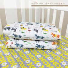 Baby Duvet 3pcs Set 100 Cotton Baby Crib Bedding Set Kids Cot Bedding Set