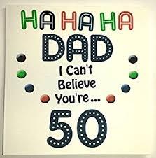 happy birthday card dad funny 50th birthday handmade card