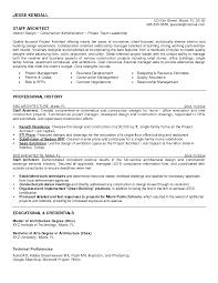 architect resume architecture resume exle