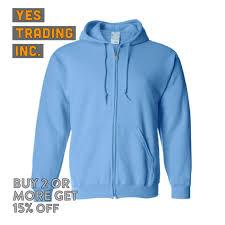 plain light blue hoodie mens womens plain zip up hoodie zipper fleece jacket hooded pullover