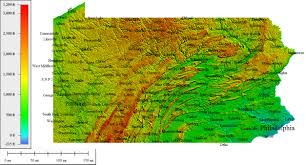 Arizona Elevation Map by Topocreator Create And Print Your Own Color Shaded Relief