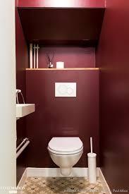 deco wc campagne des toilettes prunes qui ose les carreaux de ciments gris au sol