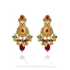 design of gold earrings with design gold earrings design south india jewels