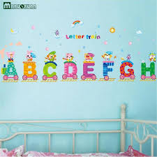 Online Buy Wholesale Alphabet Decal From China Alphabet Decal - Alphabet wall decals for kids rooms