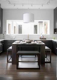 Modern Kitchen Island With Seating Hybrid Kitchen Island Table With Stools That Tuck Away To Open The