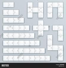 piece jigsaw puzzle template set vector u0026 photo bigstock