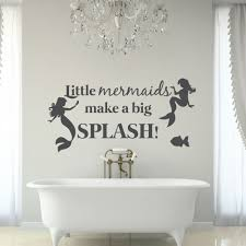 compare prices on vinyl wall decals bathroom online shopping buy beautiful mermaid wall stickers for kids room girls home bathroom vinyl wall decal quote little mermaids