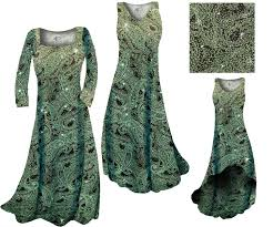 sold out clearance green paisley glitter slinky print plus size