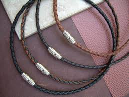 braided leather necklace images Mens braided leather necklace with stainless steel magnetic clasp jpg