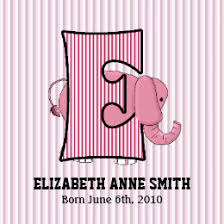 monogrammed scrapbook pink elephant scrapbook gifts on zazzle