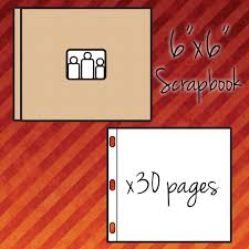 personalized scrapbook 6 x 6 30 page personalized scrapbook album two with glue