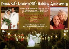 25th Anniversary Invitation Cards Our 25th Wedding Anniversary Celebration Service Inspire Ministries