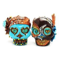 buy shocking pink skull wedding cake toppers day of the dead