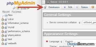 membuat database akademik dengan mysql cara membuat database mysql dengan phpmyadmin duniailkom