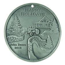 2016 John Deere Pewter Holiday Ornament Home Decor Indoor