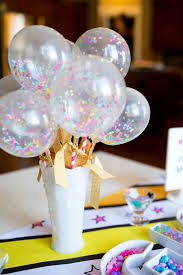 Vase Centerpieces For Baby Shower 16 Pretty Balloon Centerpieces For Kids U0027 Parties Shelterness