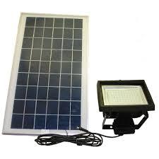 Outdoor Flood Light Bulbs Led by Solar Goes Green Solar Black 156 Smd Led Outdoor Flood Light With