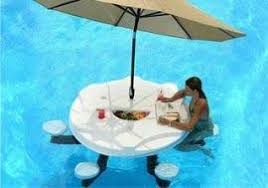 floating table for pool deliver a aqua pub the floating pool table w umbrella new to tucson