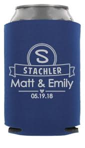 wedding koozie ideas monogram wedding can coolers wedding can coolers