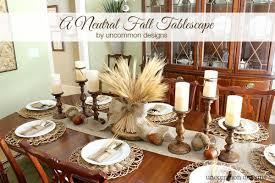 a neutral thanksgiving tablescape uncommon designs