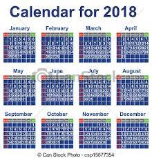 Calendario 2018 Feriados Portugal Clipart Vektor Kalender Year 2018 Ereignis Persönlich