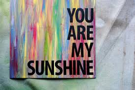 easy diy you are my sunshine art