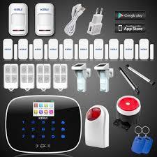 ls111 kerui 10 door sensor app gsm home alarm system outdoor solar