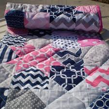 Pink Chevron Crib Bedding Pink Nautical Crib Set Baby And Nursery Furnitures
