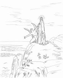 jesus temptation coloring free printable coloring pages