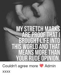 Stretch Marks Meme - moms gotink my stretch marks are proof that i brought life into this