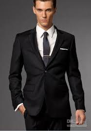 smart black suit wedding bells
