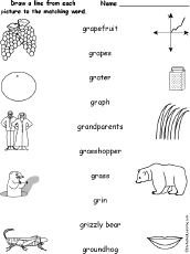 match words and pictures of words starting with consonant blends