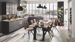 cuisine et couleurs arras cuisine équipée industrielle en l label métal bois grise