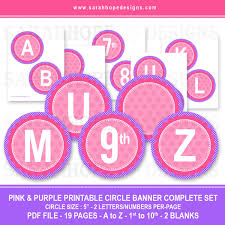 7 best images of circle printable alphabet banner free printable