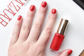 l u0027oréal color riche nail polish in exquisite scarlet a little