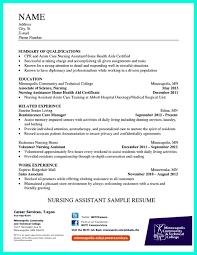resume for cna exles sle resume for certified nursing assistant therpgmovie