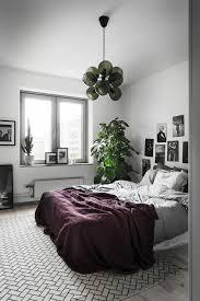 plante dans chambre à coucher chambre à coucher tapis gris sol en parquet gris clair plante