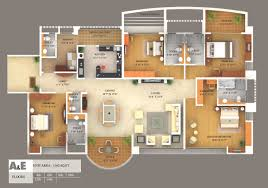 plan floor 3d colored floor plan architecture colored floor plan simple home