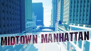 New York Manhattan Map Minecraft Midtown Manhattan In Minecraft New York City