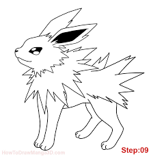 how to draw jolteon pokemon mangajam com
